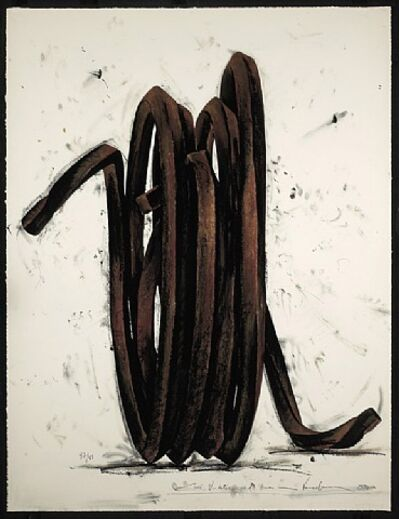 Bernar Venet, 'Two Undetermined Lines, 1990', 1990