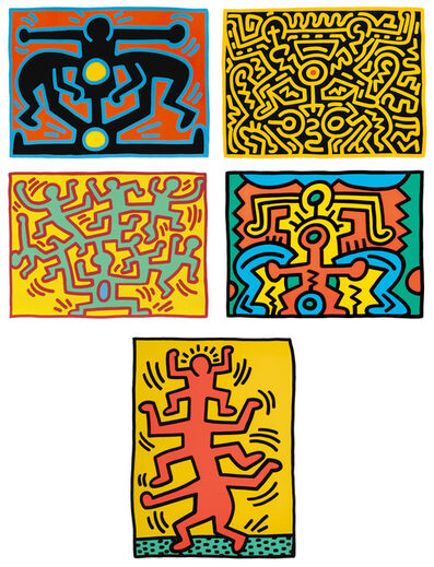 Keith Haring, 'Growing Series I-V ', 1988