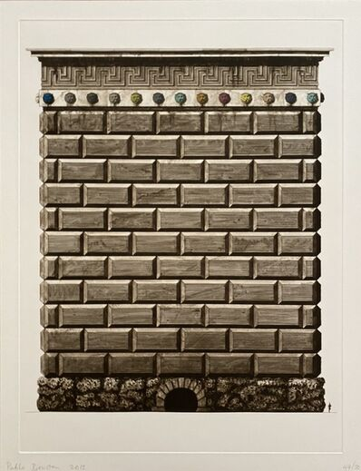Pablo Bronstein, 'Triumphal Arch in Honor of Transport for London', 2013