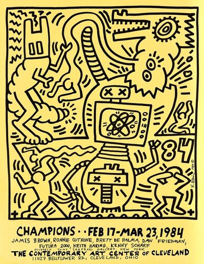 Keith Haring, 'Keith Haring Champions: Contemporary Art Center of Cleveland poster ', 1984