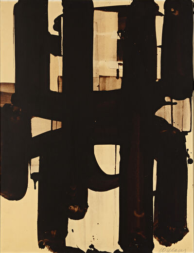 Pierre Soulages, 'Walnut stain on paper', 1973