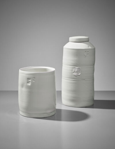 Edmund De Waal, 'Cylinder and lidded jar', ca. 2004