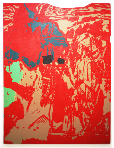 Firoz Mahmud, 'Majestic cut (red)', 2008