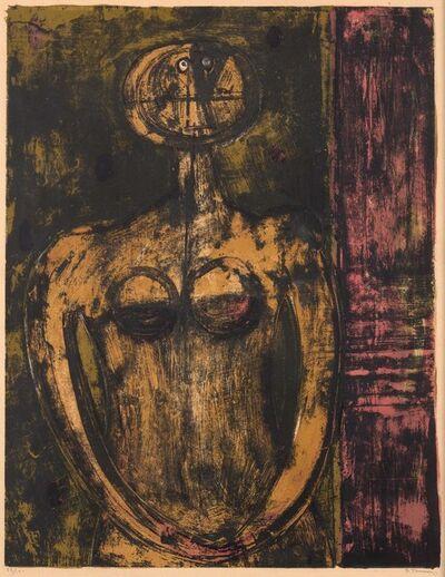 Rufino Tamayo, 'DESNUDO EN NARANJA (PEREDA 52)', 1959