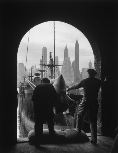 Andreas Feininger, 'Unloading coffee at Brooklyn dock, New York', ca. 1946