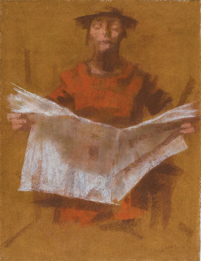 David Aronson, 'Man Reading Newspaper', 2008