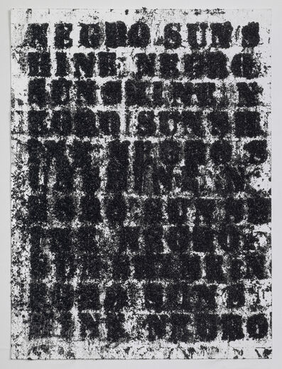 Glenn Ligon, 'Study for Negro Sunshine #57', 2010