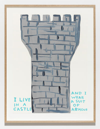 David Shrigley, 'Untitled (I Live in a Castle)', 2019
