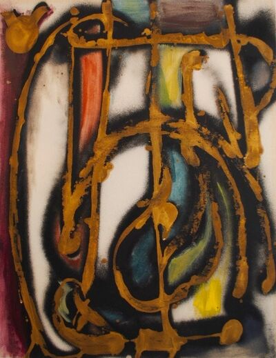 Dusti Bongé, 'Untitled (Gold, Red, Black, Blue and Yellow Abstract)', 1955