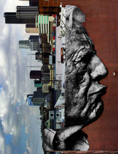 JR, 'The Wrinkles of the City, Los Angeles, Robert Upside Down, Downtown, USA', 2011