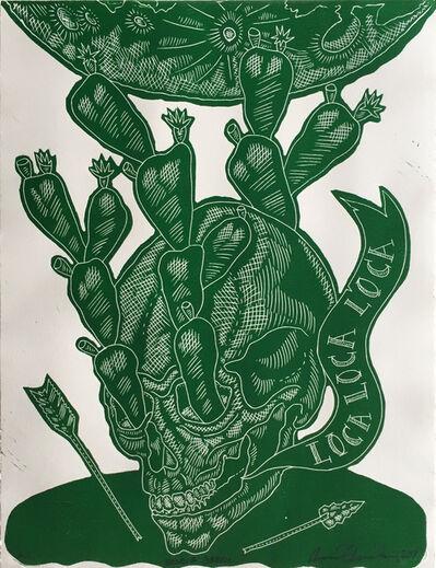 Ricky Armendariz, 'Braque Green (Loca, Loca, Loca)', 2017