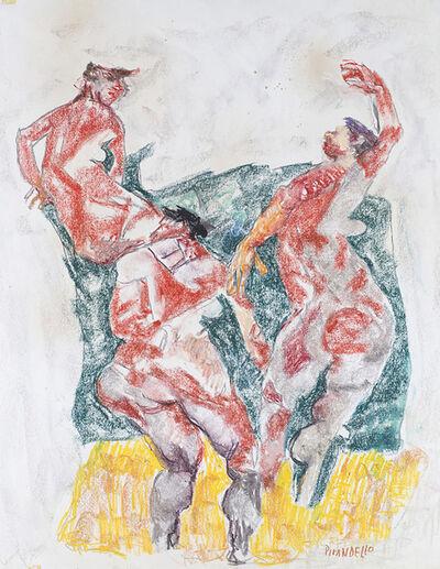 Fausto Pirandello, 'Corsa sulla spiaggia', 1955