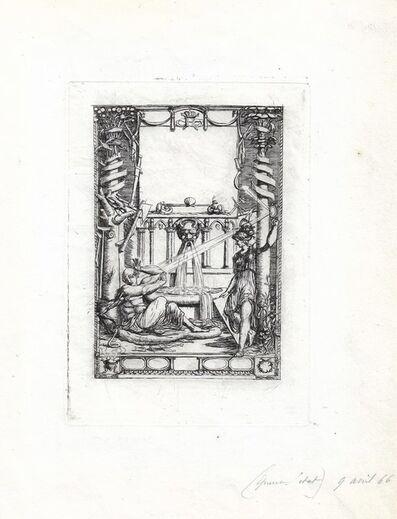 Charles Meryon, 'Frontispice pour le catalogue de l'oeuvre de Thomas de Leu', 1866