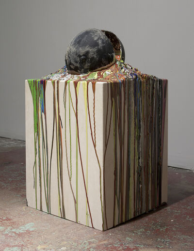 Bhakti Baxter, 'Imploded Ball Barf (travertino, psychadelic death)', 2011