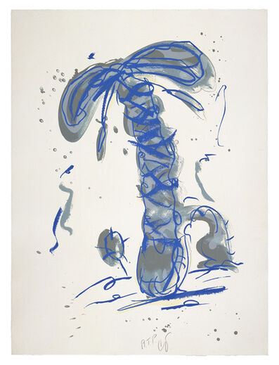 Claes Oldenburg, 'Sneaker Lace in Landscape - Blue', 1991