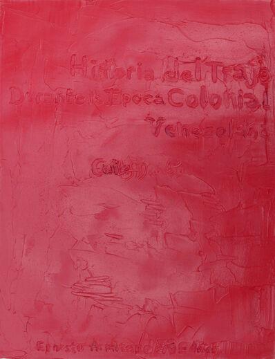 Christian Vinck, 'Historia del traje durante la época colonial. Carlos Duarte.De la serie A. Armitano'