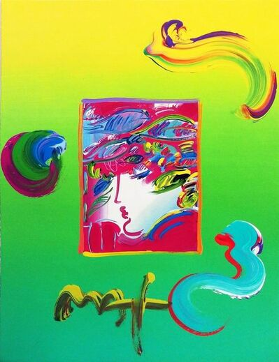 Peter Max, 'BLUSHING BEAUTY (OVERPAINT)', 2010
