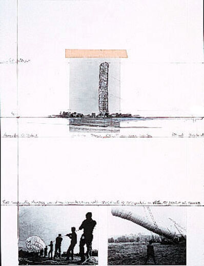 "Christo, '5600 m Package-Project for Documenta 4, Kassel (from the portfolio ""For Joseph Beuys"")', 1986"