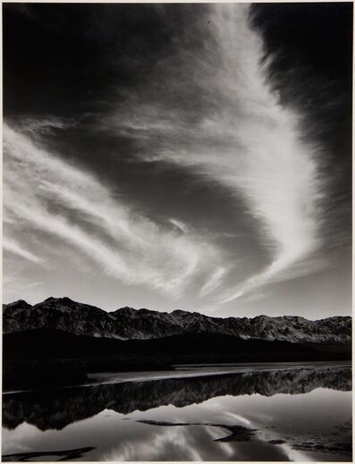 Ansel Adams, 'Sierra Nevada, Winter Evening, from the Owens Valley', 1962