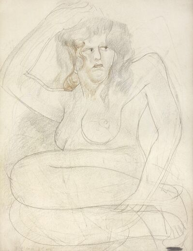 Stanley Spencer, ''Diffidence 2nd vers[ion]' (Patricia Preece)', ca. 1935