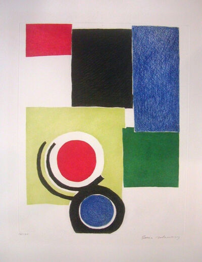 Sonia Delaunay, 'Circle Composition', ca. 1970