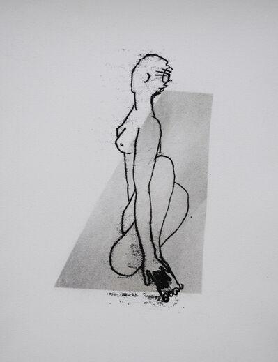 Judy Clark, 'Third Position on the Mat'