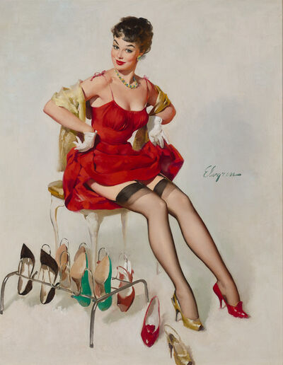 Gil Elvgren, 'What Do You Think?', ca. 1961