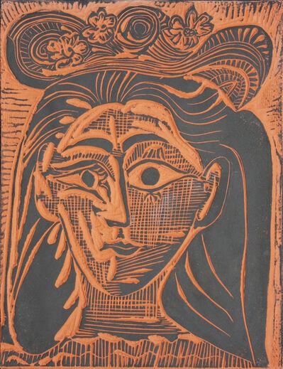 Pablo Picasso, ' Femme au Chapeau Fleuri (A.R. 521)', 1964