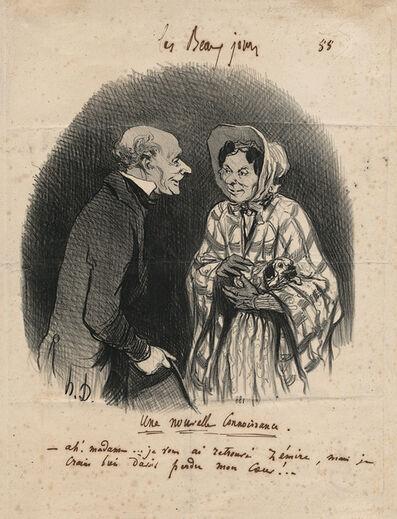Honoré Daumier, 'Une nouvelle Connaissance. – A new Acquaintance', 1846