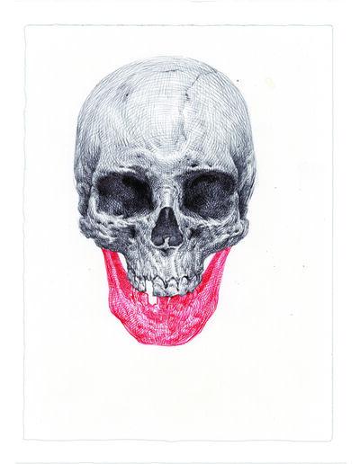 Guno Park, 'Red Draw Skull', 2016