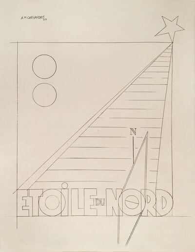A.M. Cassandre, 'Etoile Du Nord - Original Drawing ', 1927