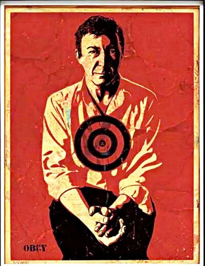 Shepard Fairey, 'Jasper Johns Red Painting', 2010