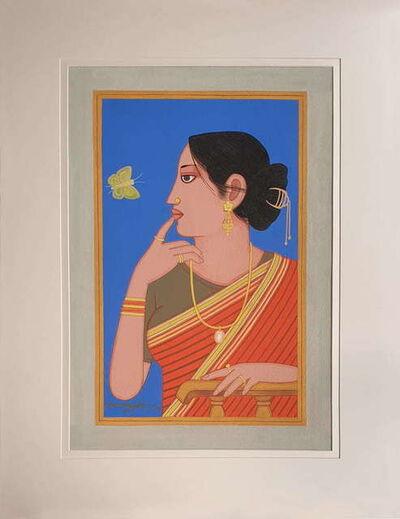 "Lalu Prasad Shaw, 'Biwi, Old Bengal, Tempera on Board,by Artist Lalu Prasad Shaw ""In Stock""', 2016"