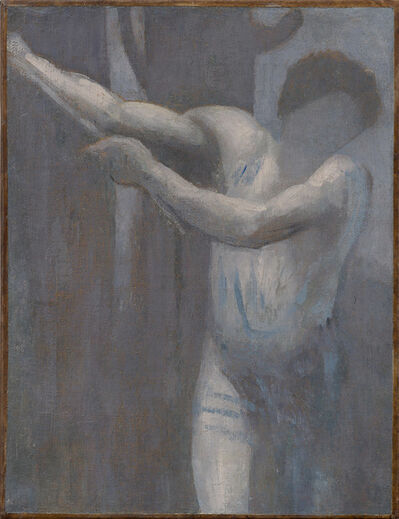 "Pierre Puvis de Chavannes, '""Le bûcheron (esquisse) (The Woodcutter [sketch])"" ', 1892"