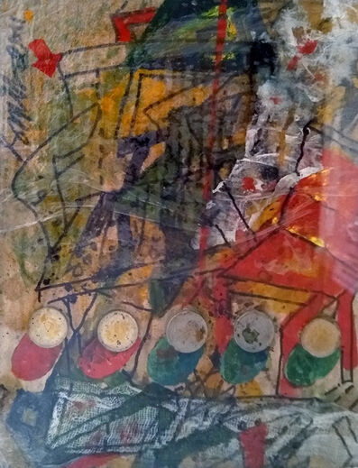 """Sunil Das, 'Coin Works, Acrylic Ink, Mixed Media on Board by the Indian Master Artist Sunil Das """"In Stock""""', 2011"""