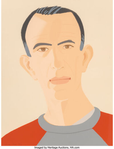 Alex Katz, 'Sweatshirt II (Self portrait), from Alex and Ada, the 1960s to the 1980s series', 1990