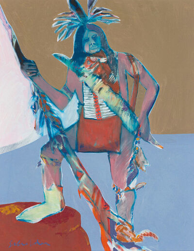 Fritz Scholder, 'Indian Warrior', 1968