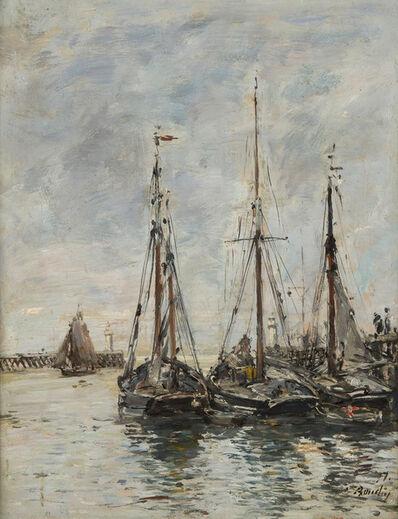 Eugène Boudin, 'Trouville. Les jetées. Marée haute', 1897