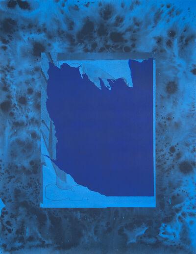 Sayre Gomez, 'Torn Image in Cerulean', 2015