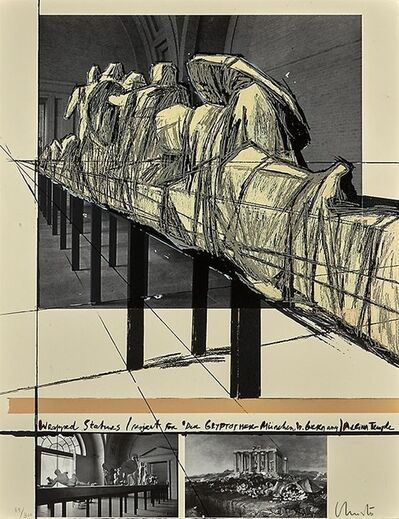 Christo, 'Wrapped Statues: The Glyptothek, Munich', 1988