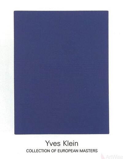 Yves Klein, 'IKB65', (Date unknown)