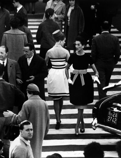 William Klein, 'Nina + Simone, Piazza di Spagna, Rome (Vogue), Variant', 1960
