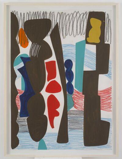 Shirley Jaffe, 'Big Square With Crayon', 1991