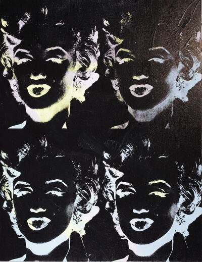 Andy Warhol, 'Four Marilyns (Reversal Series)', 1979-1986
