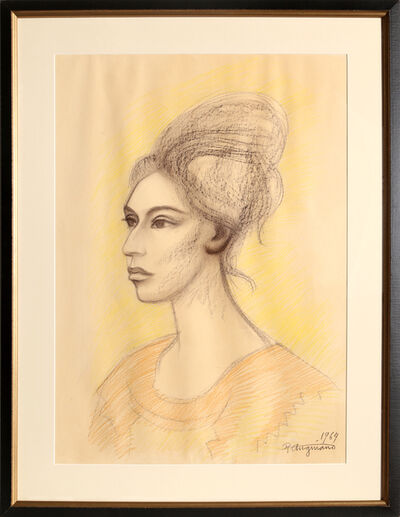 Raúl Anguiano, 'Untitled - Portait of a Woman', 1964
