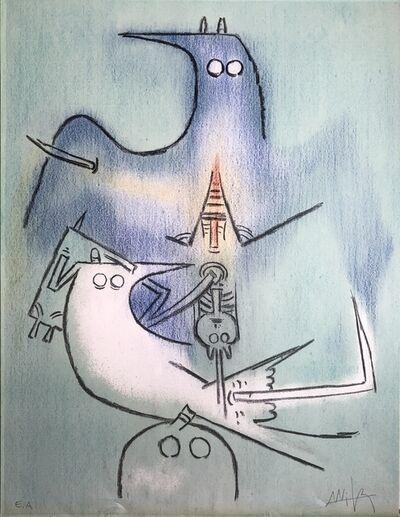 Wifredo Lam, 'Arbre de Plumes (Tree of Feathers)', 1974