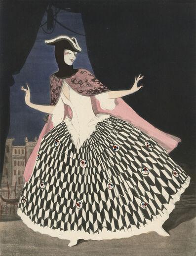 """Walter Schnackenberg, '""""Maskerade"""", Ballet und Pantomime (plate 9)', 1920"""