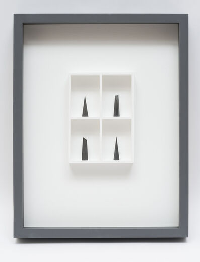 Paul Fry, '4 pieces of graphite (the edge of silence) ', 2019