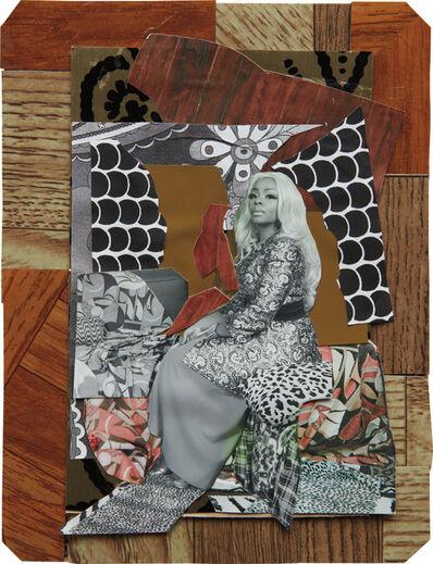 Mickalene Thomas, 'Din avec la main dans le miroir', 2008