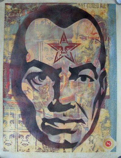Shepard Fairey (OBEY), 'Big Brother (Stencil Collage On Paper)', 2003